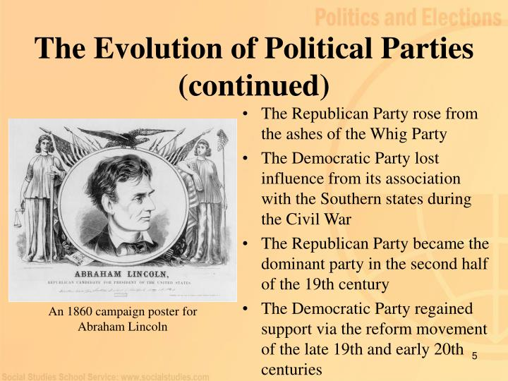 The Evolution of Political Parties (continued)