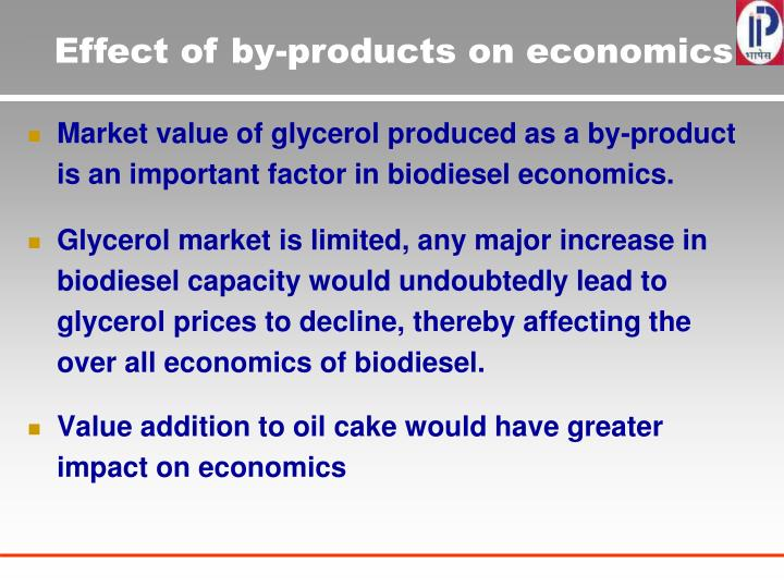 Effect of by-products on economics