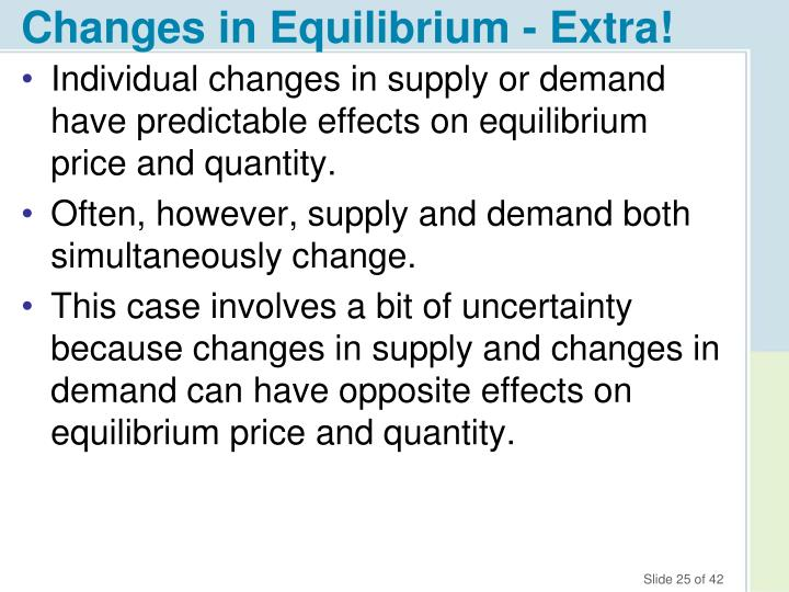 Changes in Equilibrium - Extra!
