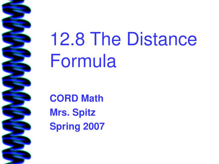 12 8 the distance formula
