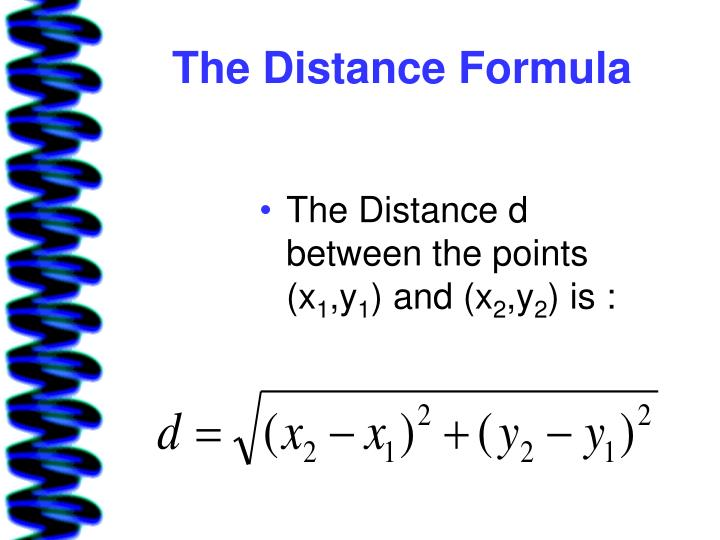 The Distance Formula