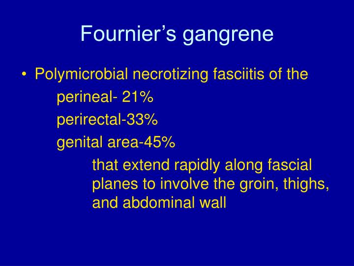 Fournier's gangrene