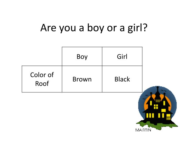 Are you a boy or a girl