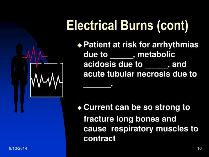 Electrical Burns (cont)
