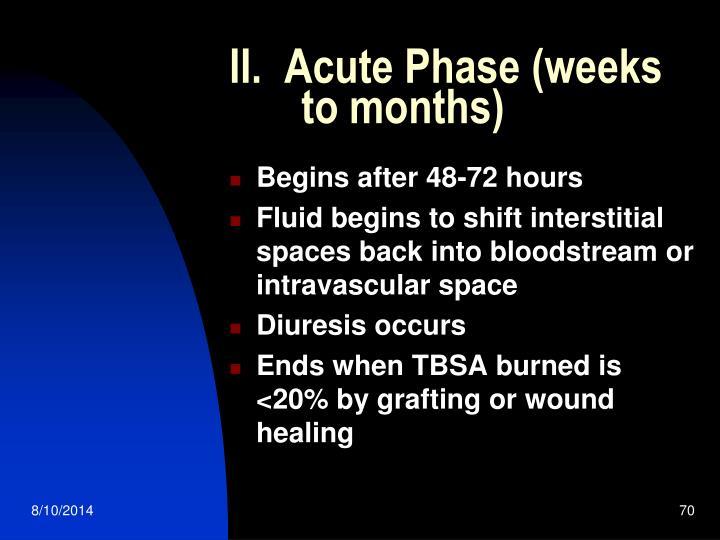 II.  Acute Phase (weeks        to months)