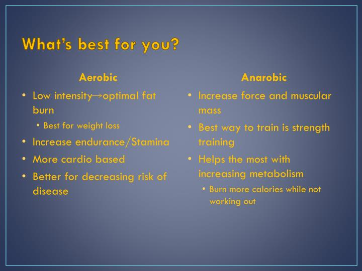 What's best for you?
