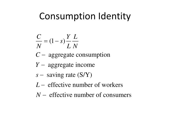 Consumption Identity