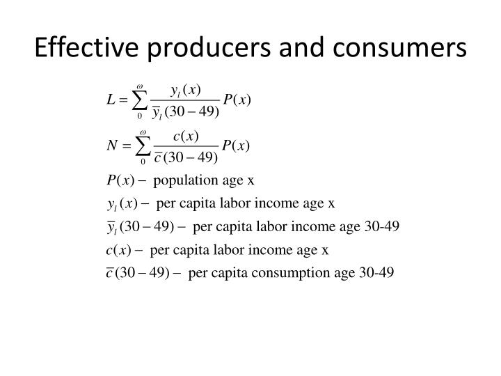 Effective producers and consumers