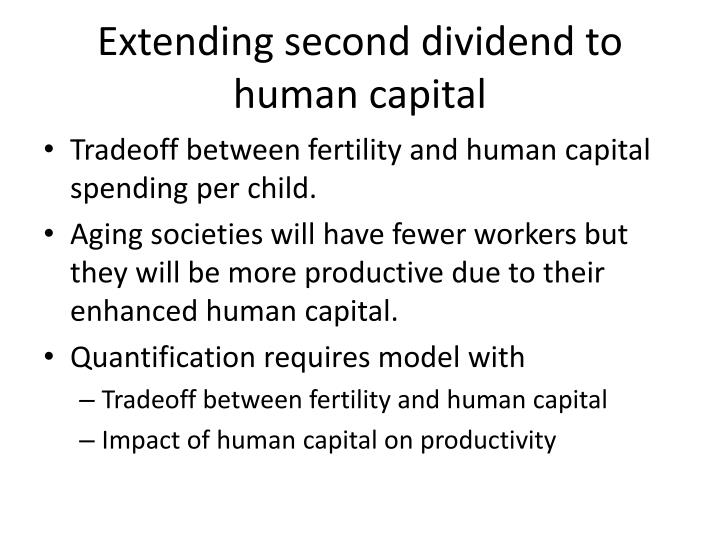 Extending second dividend to human capital