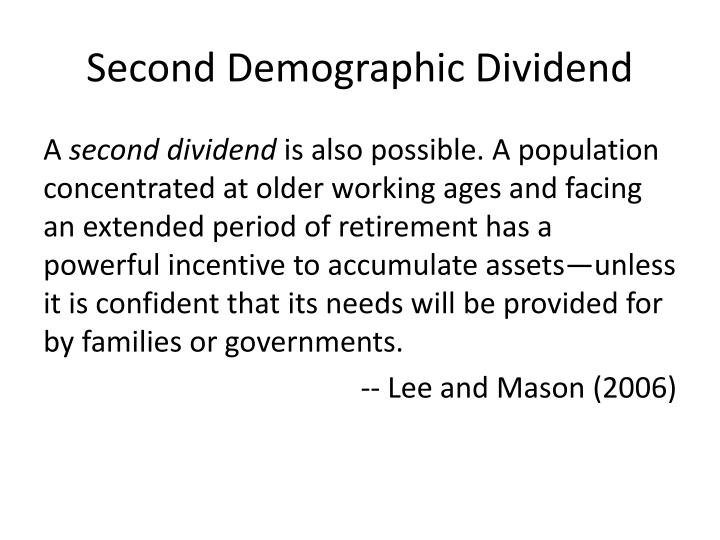 Second demographic dividend