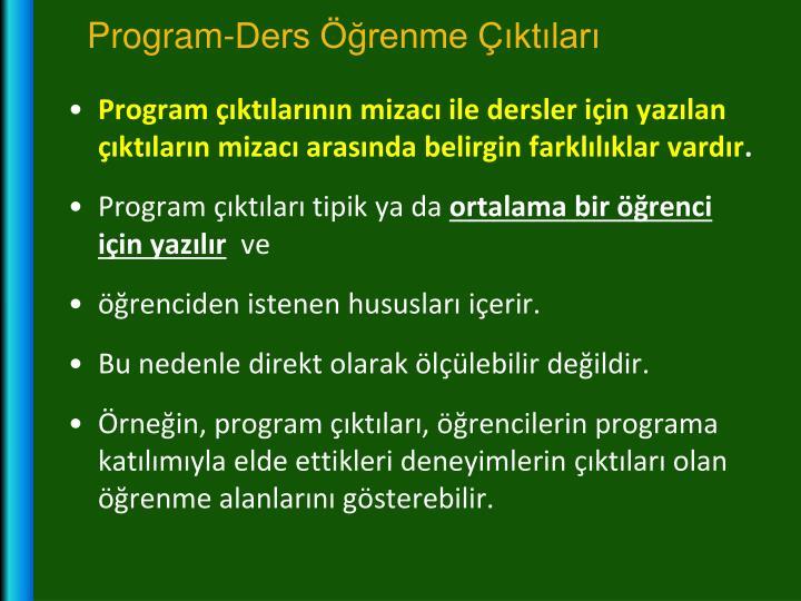 Program-Ders Öğrenme