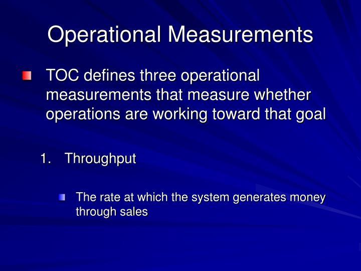 Operational Measurements