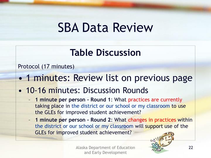 SBA Data Review