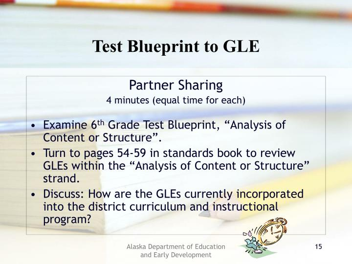 Test Blueprint to GLE