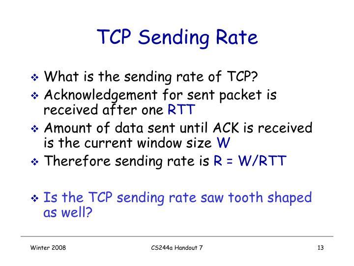 TCP Sending Rate
