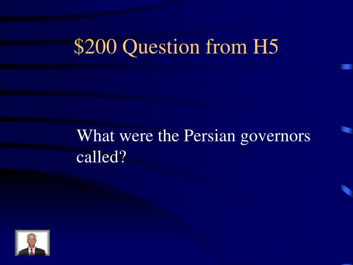 $200 Question from H5