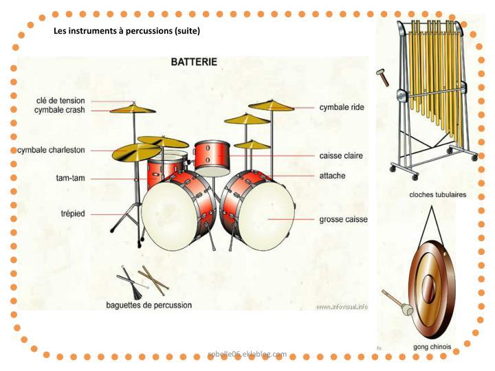 Les instruments à percussions (suite)