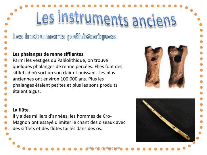 Les instruments anciens