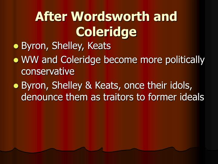 After Wordsworth and Coleridge