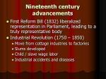 nineteenth century advancements