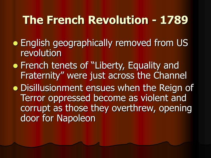 The French Revolution - 1789
