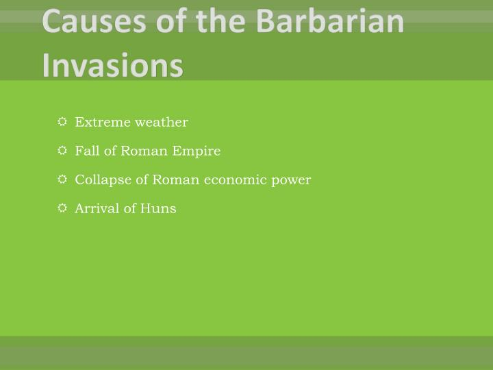 Causes of the Barbarian Invasions
