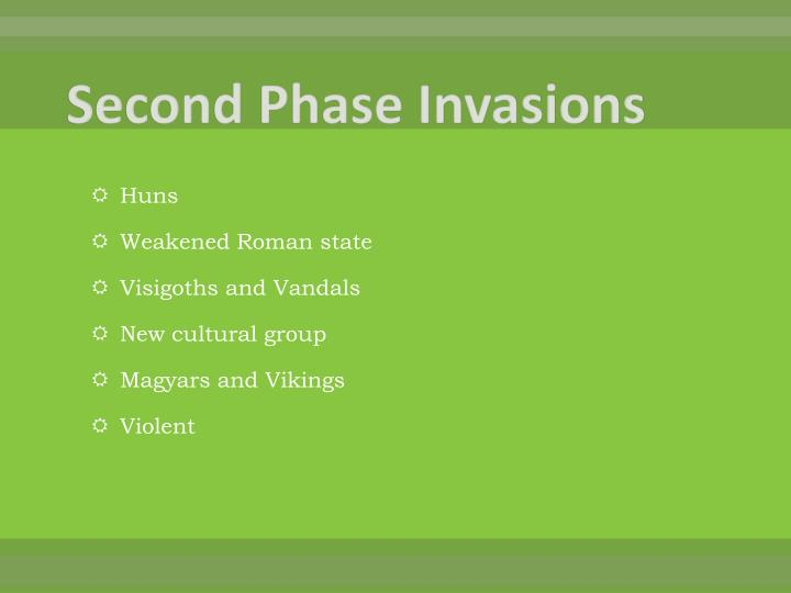 Second Phase Invasions