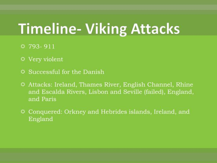 Timeline- Viking Attacks