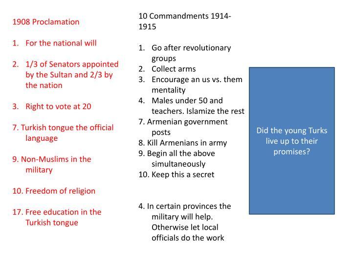 10 Commandments 1914-1915