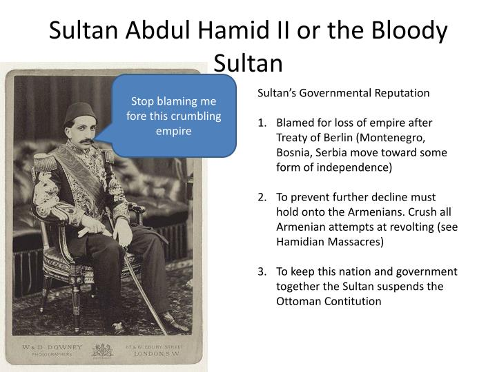 Sultan abdul hamid ii or the bloody sultan