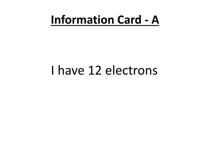 Information Card - A