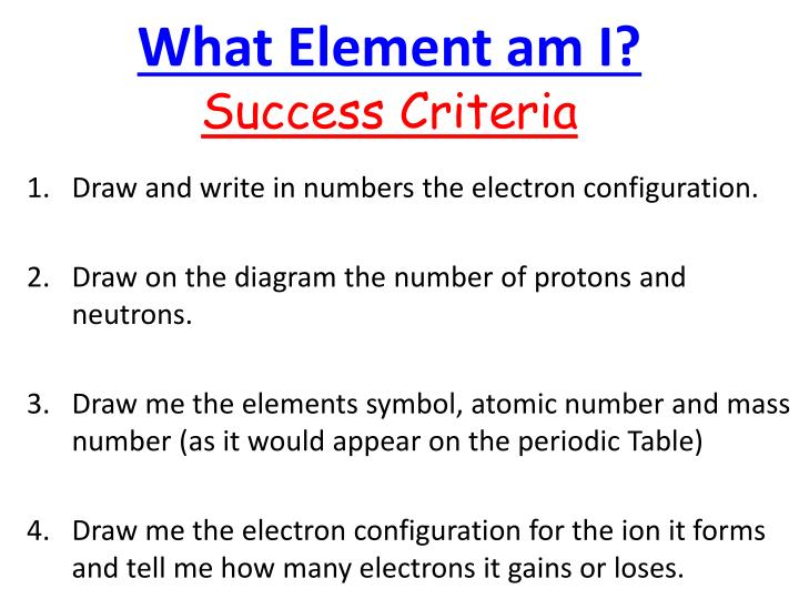 What Element am I?