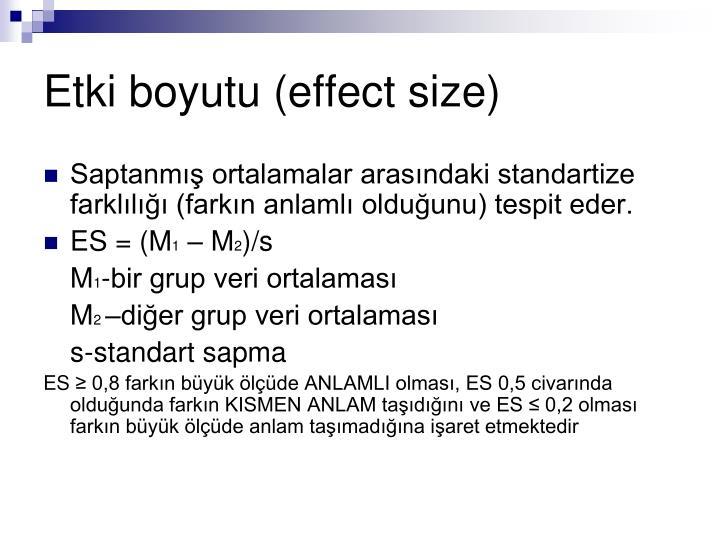 Etki boyutu (effect size)