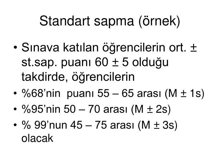 Standart sapma (örnek)