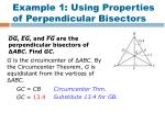 example 1 using properties of perpendicular bisectors