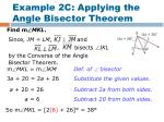 example 2c applying the angle bisector theorem