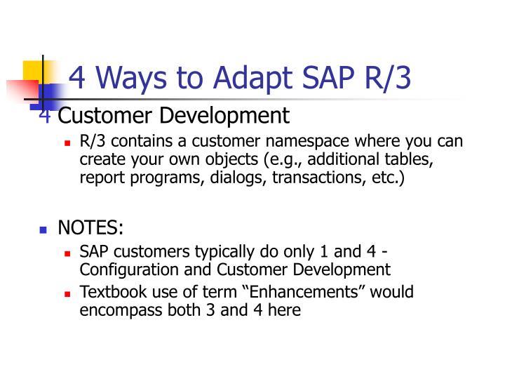 4 Ways to Adapt SAP R/3