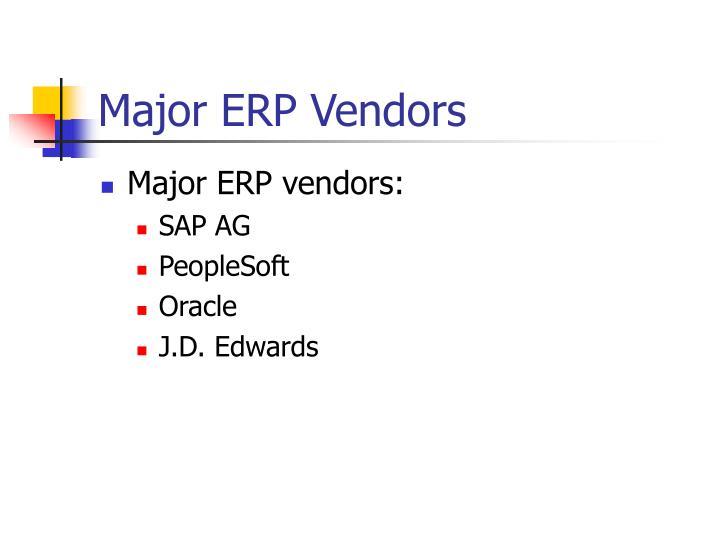 Major ERP Vendors