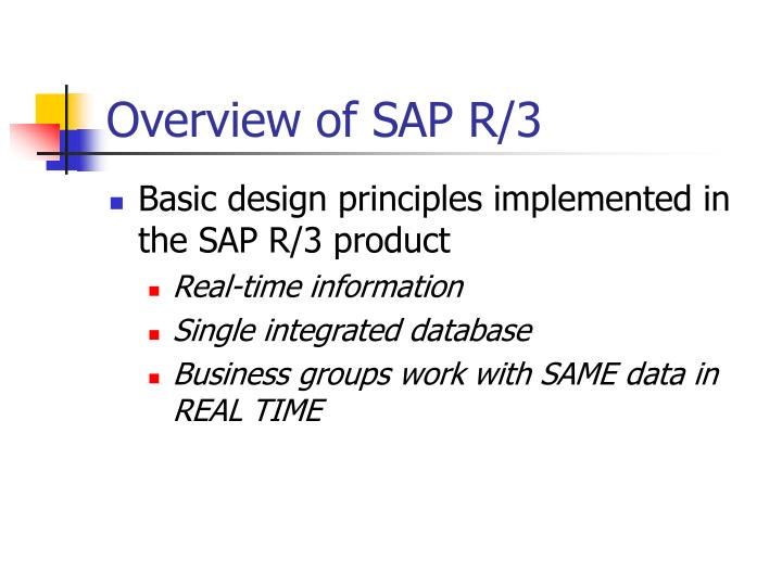Overview of SAP R/3
