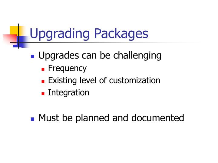 Upgrading Packages