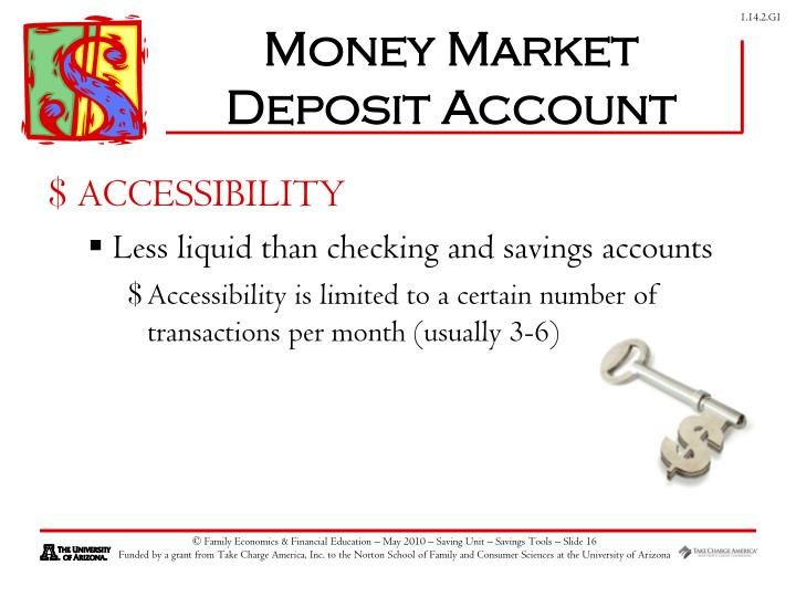 Money Market Deposit Account