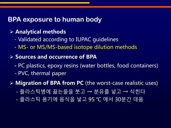 BPA exposure to human body