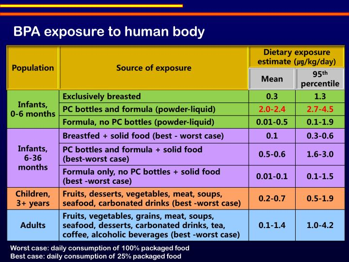BPA exposure to human body