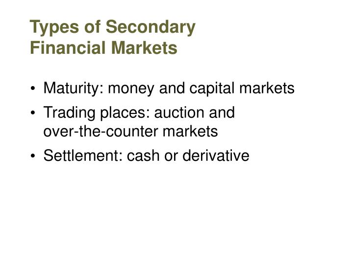 Types of Secondary