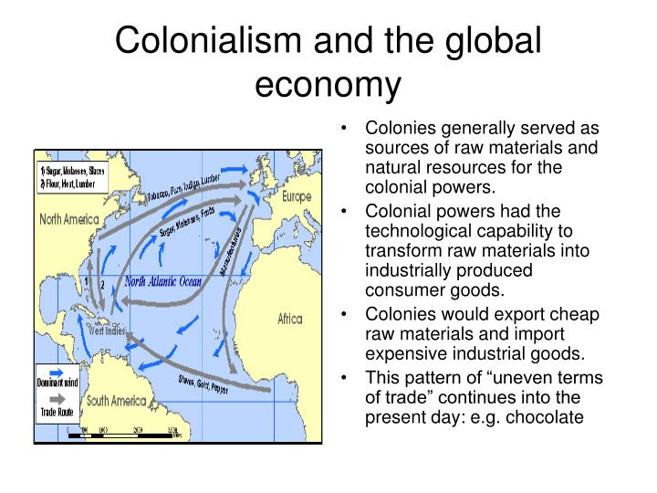 Colonialism and the global economy