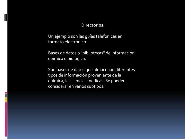 Directorios.