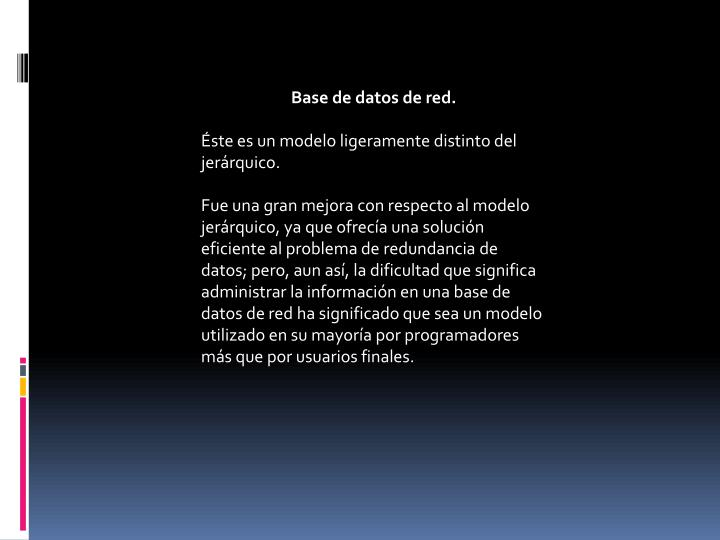 Base de datos de red.