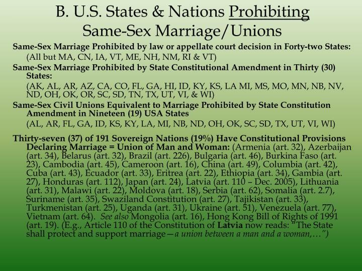 B. U.S. States & Nations