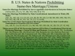 b u s states nations prohibiting same sex marriage unions