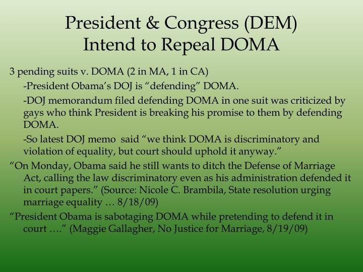 President & Congress (DEM)